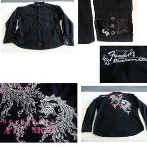 Other - Fender shirt graphic rock roll religion black XXL